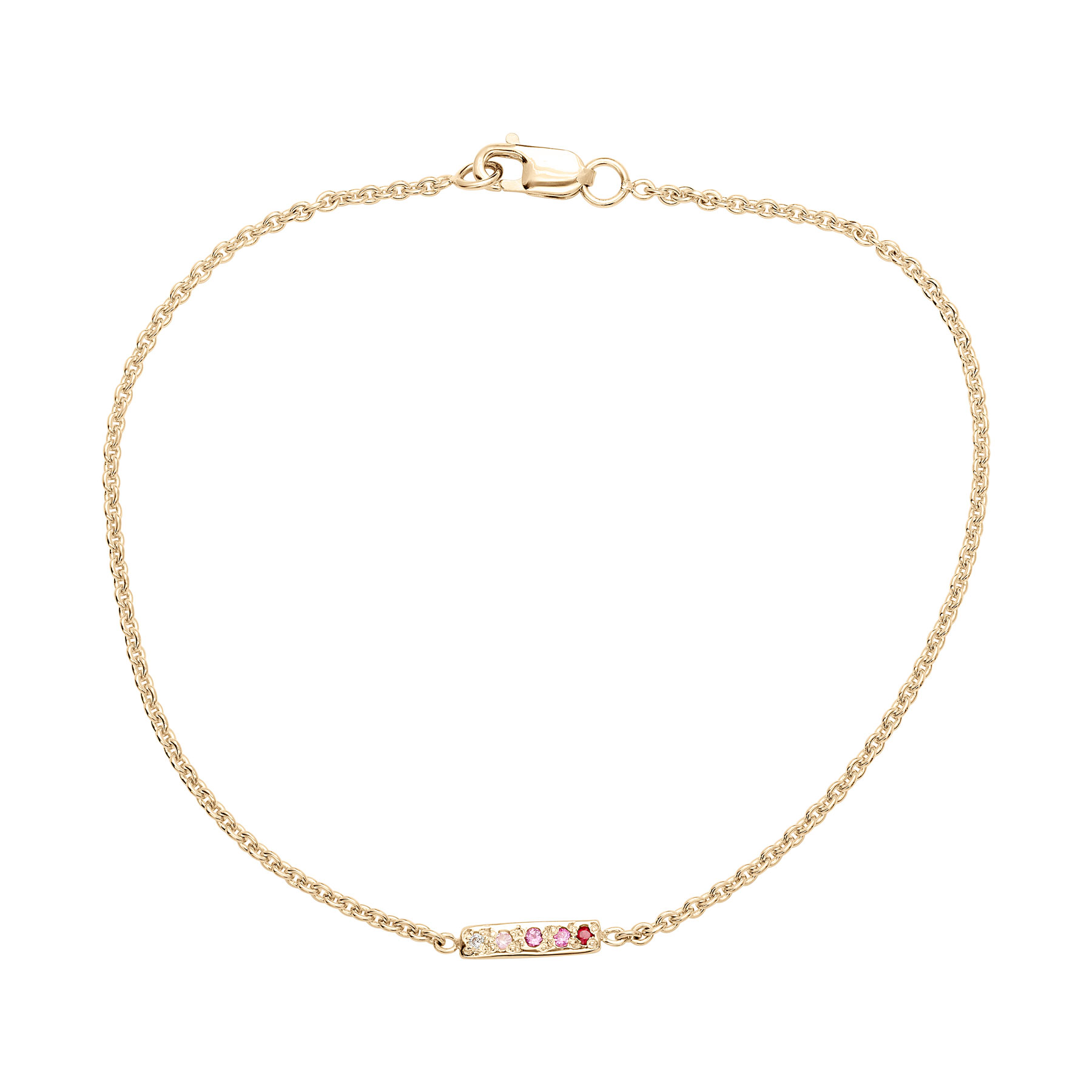 skinny bar bracelet yellow gold
