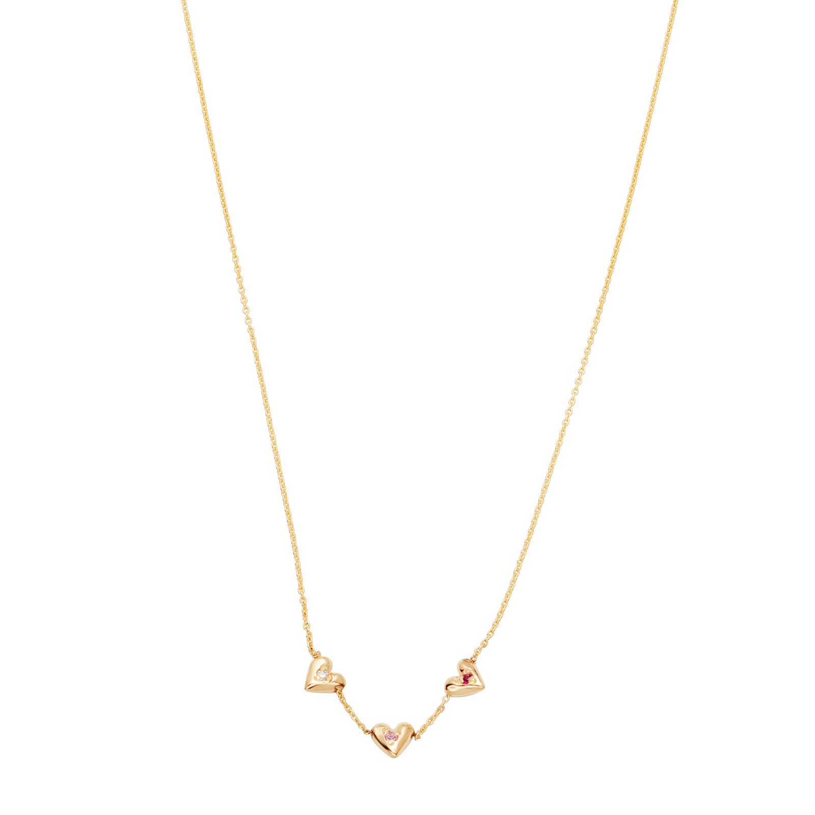 Teeny Tiny Heart Necklace - Yellow Gold