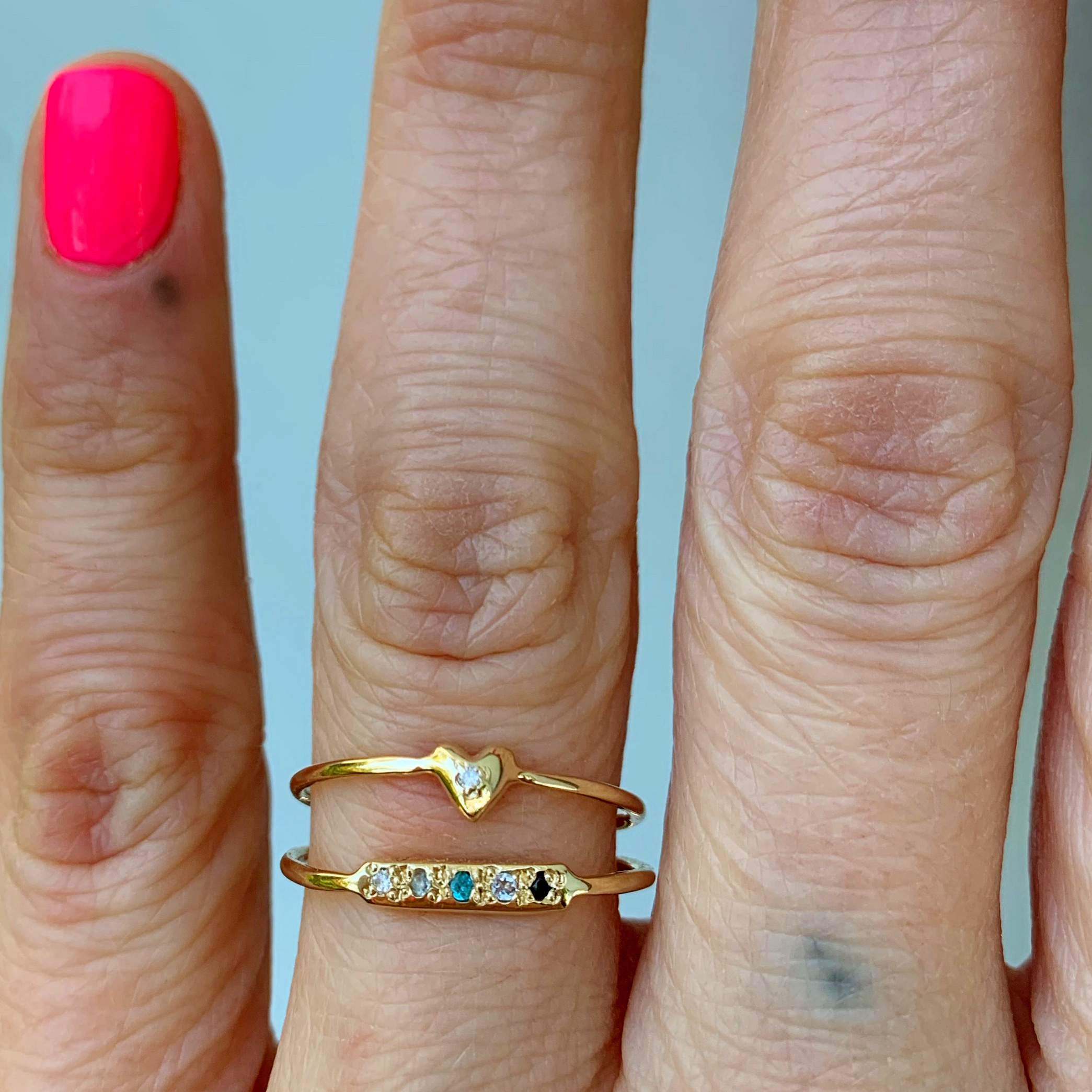 wearing the skinny bar ring