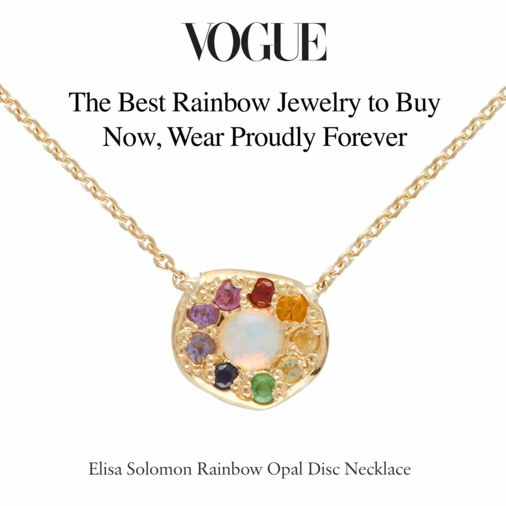 Vogue - Opal Disc Necklace - The best Rainbow Jewelry to Buy Now, Wear Proudly Forever