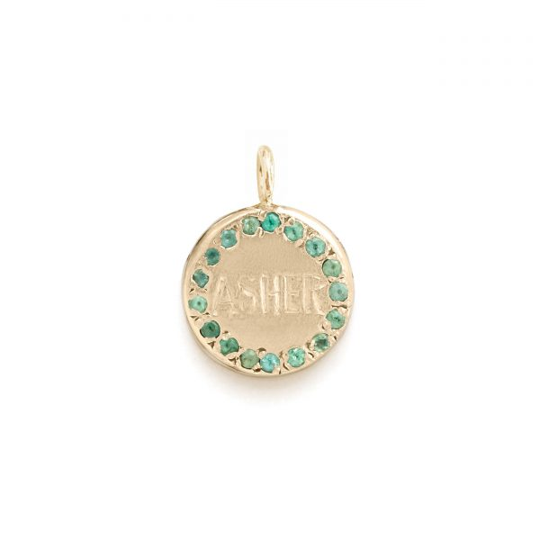 Circle Charm Jewel Collection - 14k Yellow Gold 02